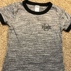 Grey PINK short sleeve T-shirt